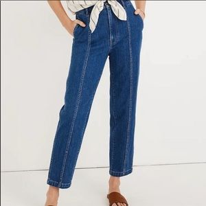 Madewell Jeans Tapered Seamed Fernhill Size 28